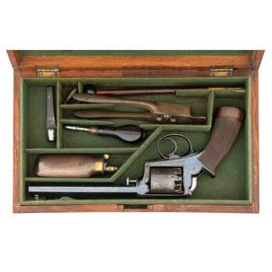 Cased Adams 1851 Patent Percussion Revolver