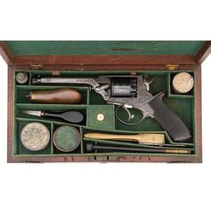 Cased 4th Model Tranter Percussion Revolver