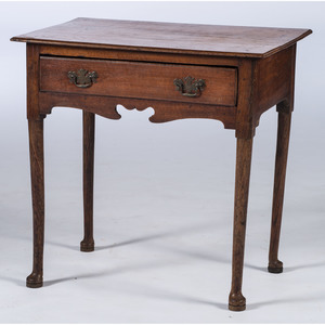 An English Queen Anne Oak Dressing Table