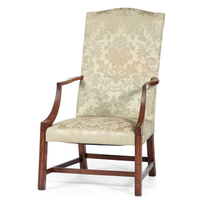 A Massachusetts Chippendale Mahogany Lolling Chair Attributed to Joseph Short (1771-1819)