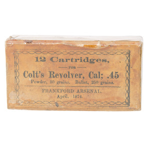Box of 12 Frankford Arsenal Colt.45 Cartridges