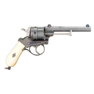 Large and Fine Centerfire Revolver Double Action Pistol Attributed to Auguste Francotte