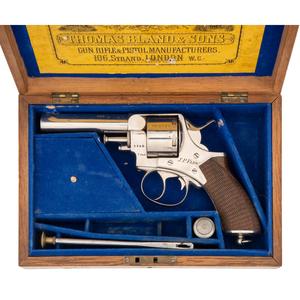 Cased Thomas Bland English Revolver