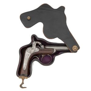 An Unusual Right-Angle Percussion Pocket Pistol by Delvigne