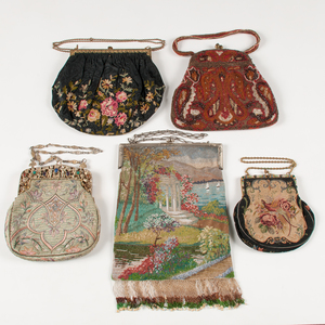 Beaded and Embroidered Purses, Including Gorham