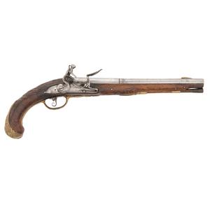 Mid 18th-Century Saxon Flintlock Holster Pistol by Muller a Magdeburg