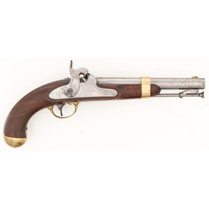 Model 1842 U.S. Martial Pistol by Henry Aston Dated 1852