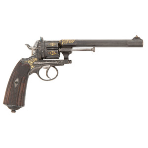 Exhibition Quality Austrian Cartridge Revolver by Anton Mulacz in Wien, Ca. 1875