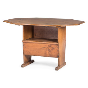A New York Mixed Woods Hutch Table