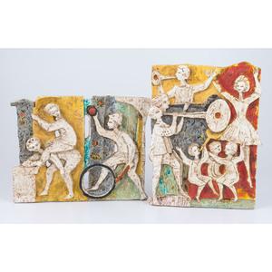 Rare Borsato Modernist Ceramic Plaques