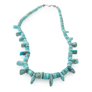 Pueblo Red Mountain Turquoise Necklace