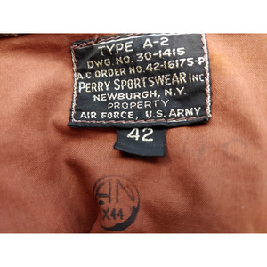 Airman's Leather Jacket Embroidered to A.E. Dixon