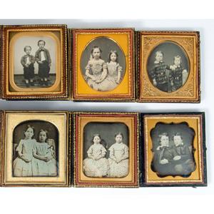 Delightful Sixth Plate Portraits of Siblings, Plus