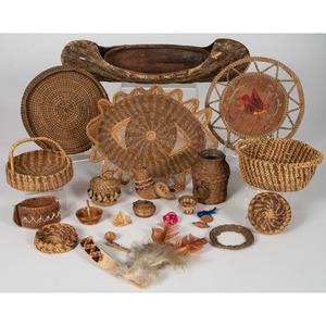 Assorted Eastern Woodlands Baskets, PLUS