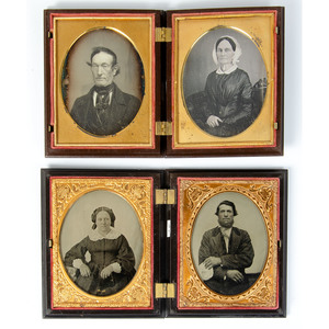 Pendant Portraits of Couples, Including Eight Quarter Plate Images