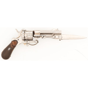 Diminutive Belgian Pinfire Knife Pistol