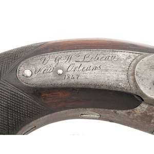 Extremely Rare and Possibly Unique Southern Percussion Revolver By V.G.H. Libeau New Orleans