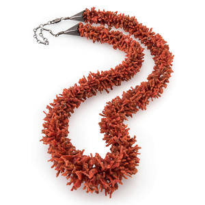 Pueblo Branch Coral Necklace