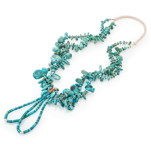 Pueblo Double-Strand Turquoise and Heishi Necklace
