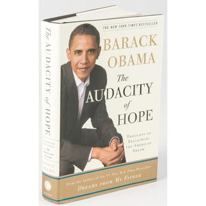 President Barack Obama, Signed Copy of The Audacity of Hope