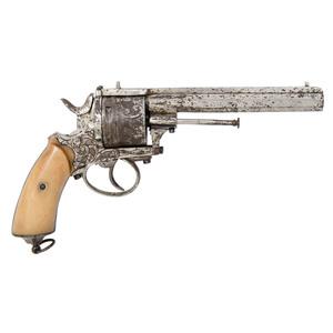 Belgian 11mm Engraved Revolver