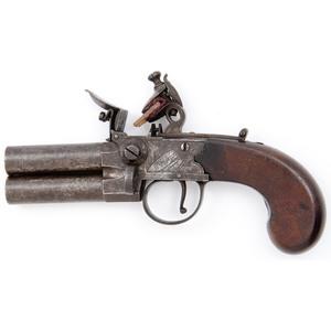 H. Nock Tap Action Flintlock Pistol