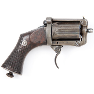 A Scarce Devisme Apache Style Centerfire Pepperbox with Folding Trigger