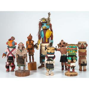 A Group of Colorful Hopi Katsinas