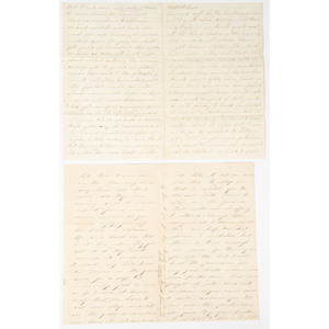 Civil War Correspondence Featuring Descriptions of Camp Life, Officer Behavior, and General Grant