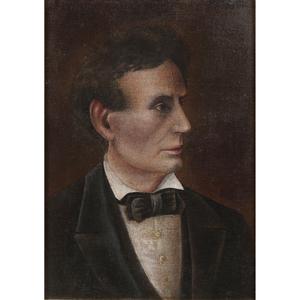 American School, Portrait of Abraham Lincoln