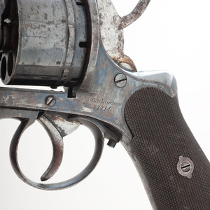Large Frame Pinfire Revolver by Hill