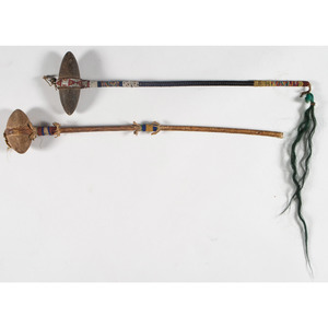 Northern Plains Beaded Stone Clubs