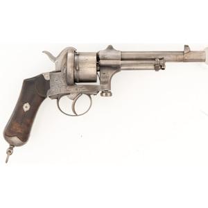 Large Frame Mariette Brevete Pinfire Revolver