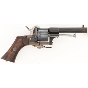 Folding Trigger Pinfire Pocket Revolver