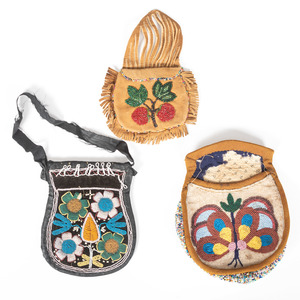 Anishinaabe and Haudenosaunee Beaded Pouches