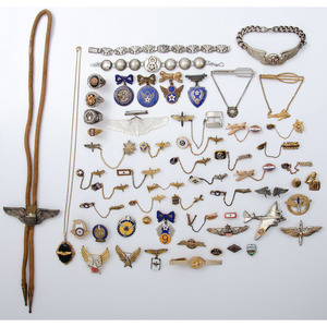 Lot of WWII Civilian Jewelry including