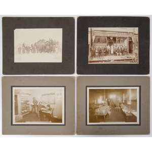 Late 19th-Early 20th Century Occupational and Storefront Photographs, Incl. Saloon