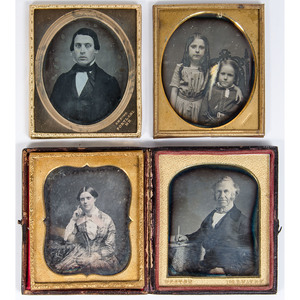 Group of Seventeen Daguerreotypes by Identified Photographers