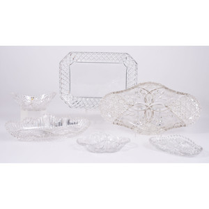 Cut Glass Trays and Bowl