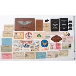 Lot of WWII-Era Pilot's Memorabilia