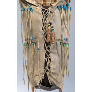 Paiute Child's Beaded Hide Cradle