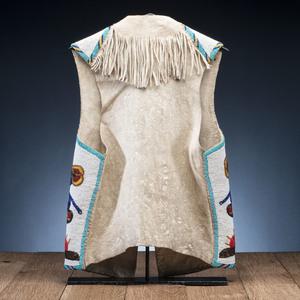 Blackfoot Pictorial Hide Vest