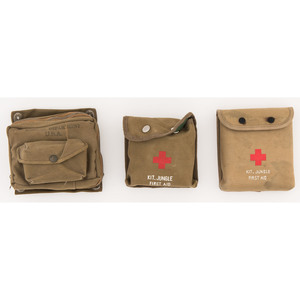 Lot of 3 Canvas First Aid Jungle Kits