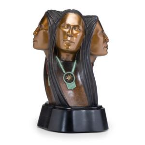 Larry Yazzie (Dine, b. 1958) Bronze Sculpture
