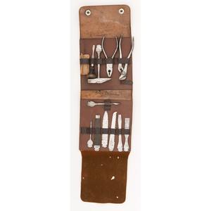 German Leather Bound Tool Kit