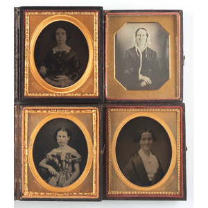 Lot of 20 Sixth Plate Portraits of Men and Women Taken by Identified Photographers