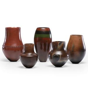 Alice Cling (Dine, b.1946) Navajo Pottery Vases