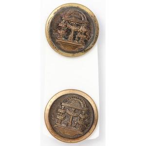 Pair of Coat Buttons, Georgia