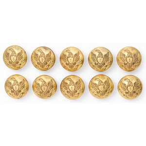 Lot of 10 Federal Infantry Buttons