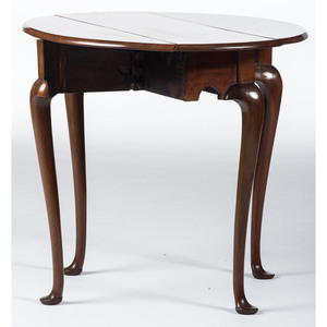 A Diminutive Queen Anne Mahogany Drop Leaf Table